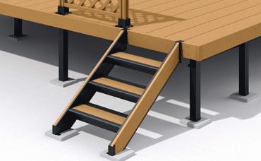 オープンデッキ・オプション(標準仕様を、さらに使い勝手を良くするために面積を多く設計。外で食事を取るなと自由度が上がります!)
